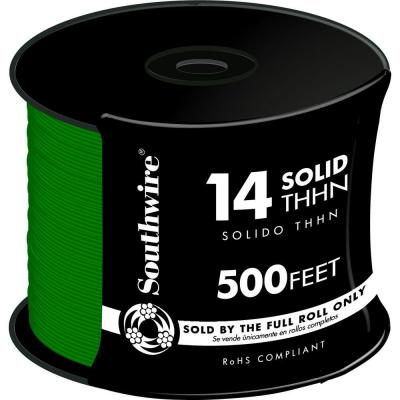 500 ft. 14 Green Solid THHN Wire