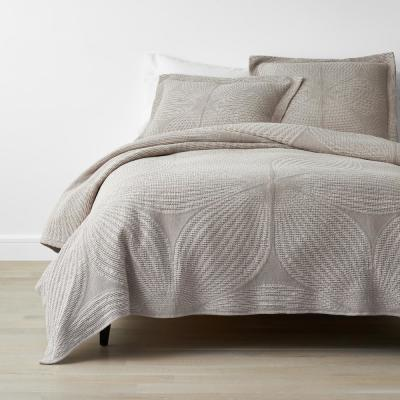 Carlin Natural Geometric Cotton Coverlet