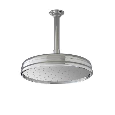 KOHLER 1-spray Single Function 10 in. Traditional Round Rain Showerhead in Polished Chrome