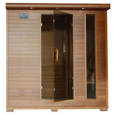 6-Person Cedar Infrared Sauna with 10 Carbon Heaters Product Photo