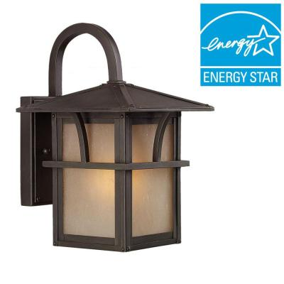 Medford Lakes 1-Light Outdoor Statuary Bronze Wall Mount Fixture