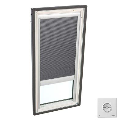 Solar Powered Room Darkening Grey Skylight Blinds for FS C06 Models Product Photo