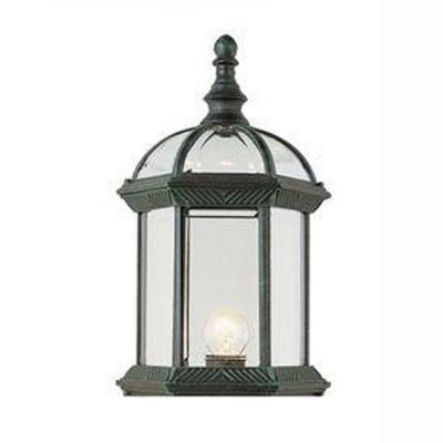 Bel Air Lighting Wall Mount 1-Light Outdoor Verde Green Coach Lantern with Clear Glass