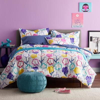 Flower Power Graphic Organic Cotton Percale Comforter