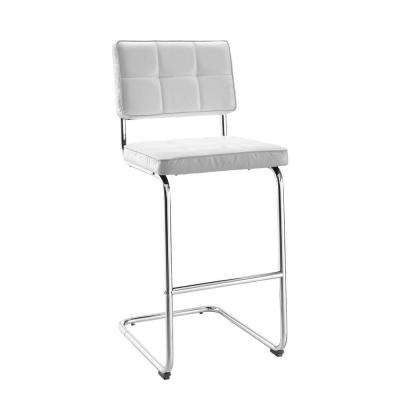 Tufted PU Breuer Bar Stool in White Product Photo