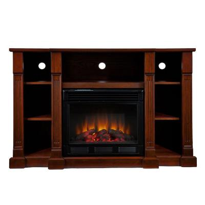 Southern Enterprises Kendall 52 In Media Console Electric Fireplace In Espresso Fe9386 The