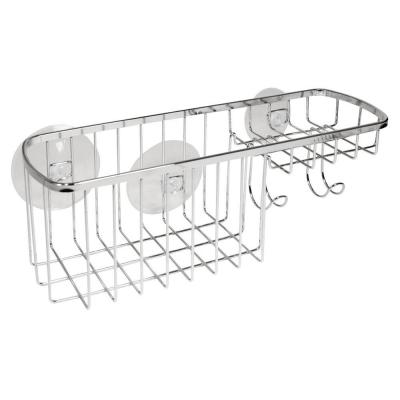 Suction Combo Shower Basket in Chrome