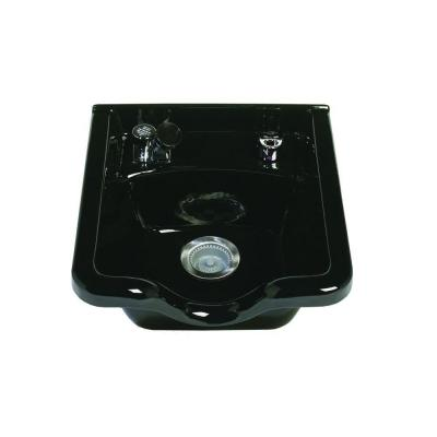 Alpha Wall-Mount Bathroom Sink with Fixtures and 403 Vacuum Breaker in Black Product Photo