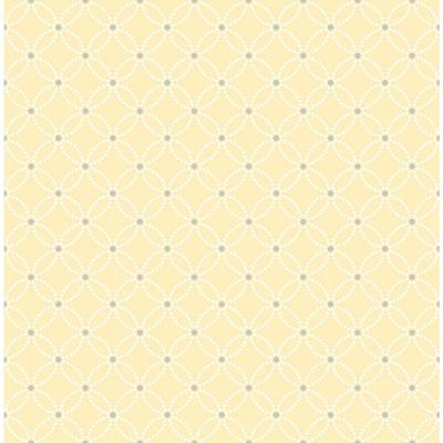 8 in. W x 10 in. H Kinetic Yellow Geometric Floral