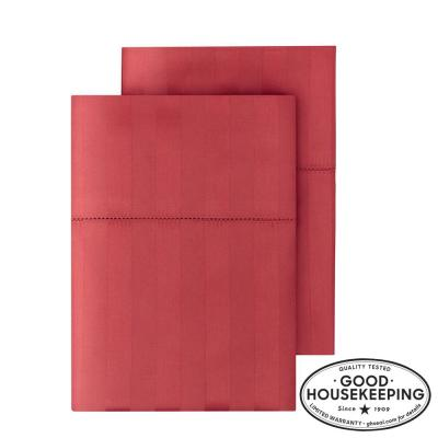 500 Thread Count Egyptian Cotton Damask Sateen Pillow Case (Set of 2)
