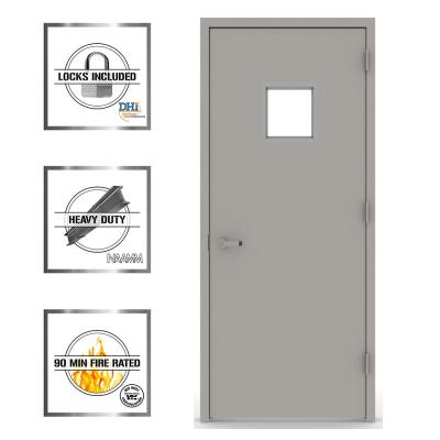 Vision Lite 1010 Steel Prehung Commercial Door with Welded Frame