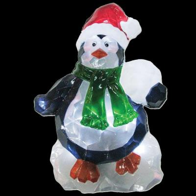Brite Star 25 in. Battery Operated Icy Pure White Twinkling LED Penguin Lawn Silhouette