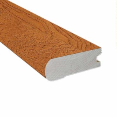 Hickory Honey 3/4 in. Thick x 2-3/4 in. Wide x 78 in. Length Hardwood Flush-Mount Stair Nose Molding Product Photo