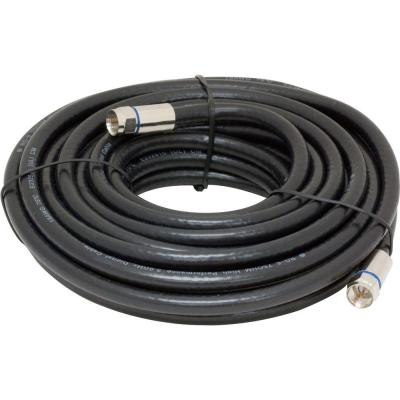 GE 25 ft. RG6 In-Wall Coaxial Cable - Gray