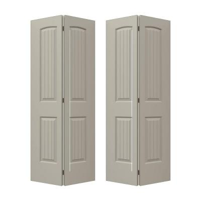 72 in. x 80 in. Molded Smooth 2-Panel Arch Plank Desert