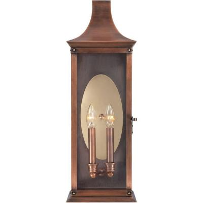 Filament Design Monroe 2-Light Outdoor Aged Copper Incandescent Wall Lantern