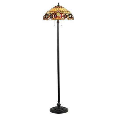 Chloe Lighting Serenity 65.4 in. Tiffany Style Victorian Floor Lamp with 18 in. Shade