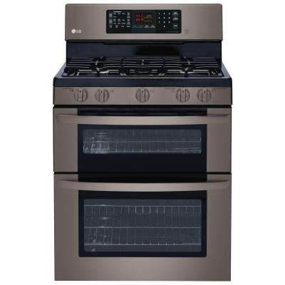 Lg Countertop Convection Oven : cu. ft. Double Oven Gas Range with EasyClean, Convection in Lower Oven ...