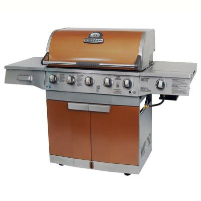 Brinkmann grill medallion 5 burner propane gas grill in coppe - Home depot bbq propane ...