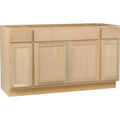 sink base kitchen cabinet in unfinished oak sb60ohd the home depot - Sink Cabinet Kitchen