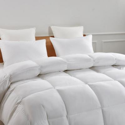 233 Thread Count White Goose Feather And White Goose Down Fiber Comforter