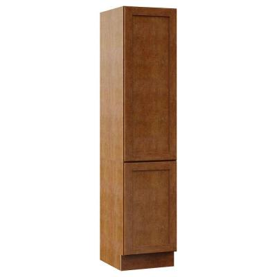 Stirling 18 in. W x 81 in. H x 21-1/2 in. D Linen Cabinet with Drawers in Almond Product Photo