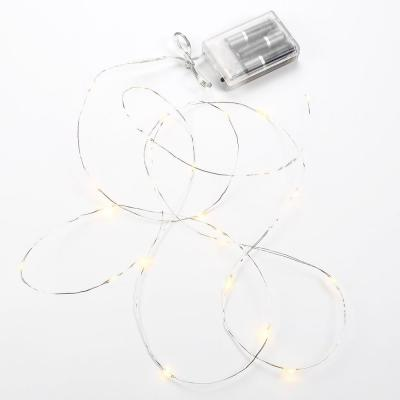 25-Light Single Strand Silver LED String-Light (2-Pack) Product Photo