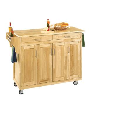 Home Styles Create-a-Cart in Natural Wood