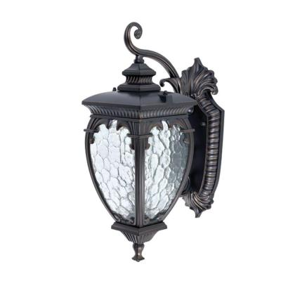 Globe Electric Ancienne 17.5 in. Downward Wall Mount Outdoor Oil Rubbed Bronze Lantern Light Fixture