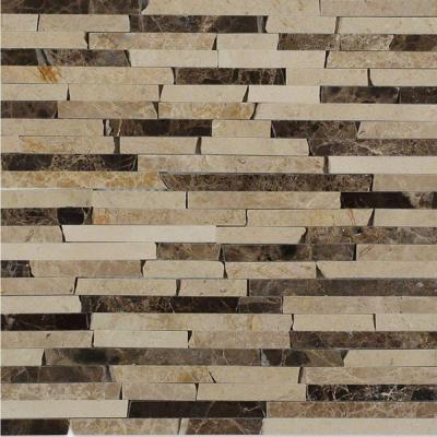 Cracked Joint Classic Brick Layout 12 in. x 12 in. x