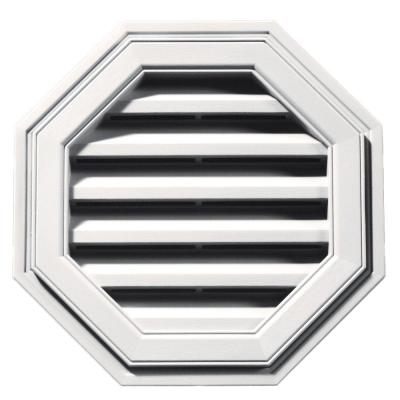 18 in. Octagon Gable Vent in Bright White Product Photo