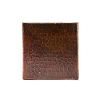 6 in. x 6 in. Hammered Copper Decorative Wall Tile in
