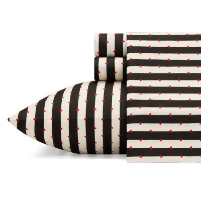Wonderland Stripe Striped Microfiber Sheet Set