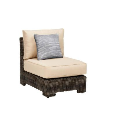 Northshore Middle Armless Patio Sectional Chair with Harvest Cushion and Congo