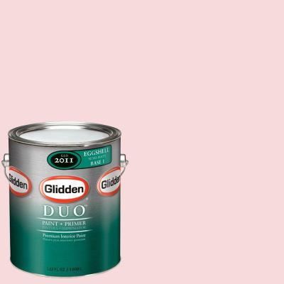 Glidden DUO 1-gal. #GLR18-01E Powder Pink Eggshell Interior Paint with Primer