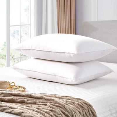 Scott living 330 Thread Count Back Sleeper Goose Feather and Down Fiber Bed Pillow (2 Pack)