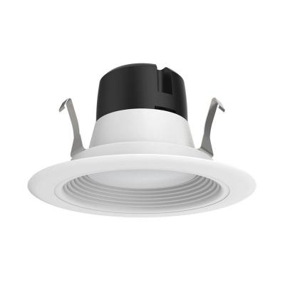 4 in. Recessed LED Ceiling Light with White Baffle Trim, 2700K,