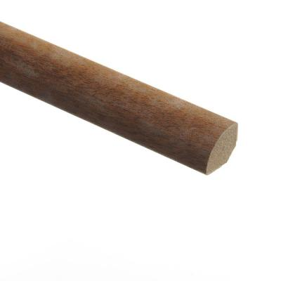 Black Walnut 5/8 in. Thick x 3/4 in. Wide x 94 in. Length Vinyl Quarter Round Molding Product Photo
