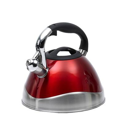 Crescendo 12-Cup Tea Kettle with Stainless Steel in Metallic Cranberry
