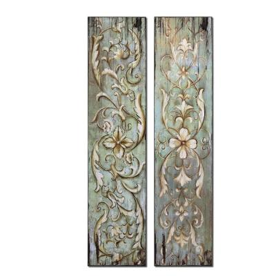 Global Direct 14 in. x 60 in. Climbing Vines Wall Art (2 Piece)-DISCONTINUED