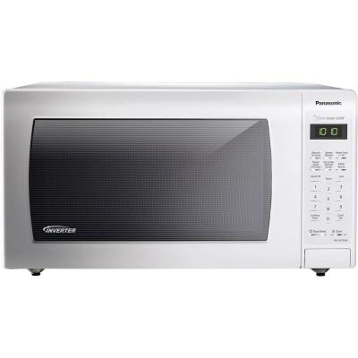 Panasonic 1.6 cu. ft. Countertop Microwave in White, Built-In Capable with Sensor Cooking and Inverter Technology, White
