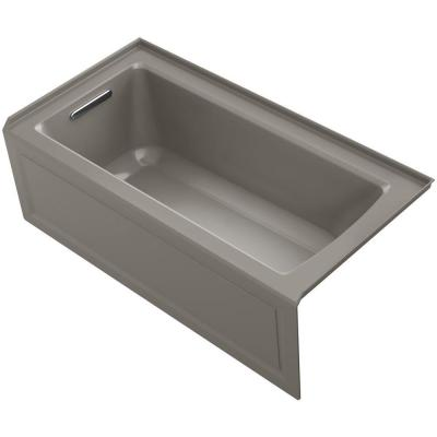 Archer 5 ft. Left Drain Soaking Tub in Cashmere