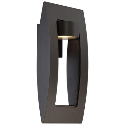 Oil Rubbed Bronze with Gold Highlights Outdoor LED Wall Mount Lantern