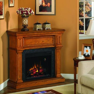 Chimney Free 42 in. Electric Fireplace in Oak-DISCONTINUED