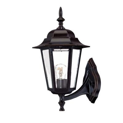 Acclaim Lighting Camelot Collection Wall-Mount 1-Light Outdoor Architectural Bronze Fixture