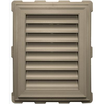 18 in. x 24 in. Classic Brickmould Gable Vent in Clay Product Photo