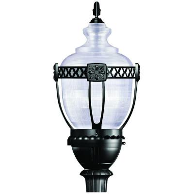 Exterior Lighting Series 1-Light Black Outdoor Post Lamp