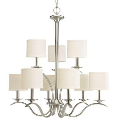 Inspire Collection 9-Light Brushed Nickel Chandelier