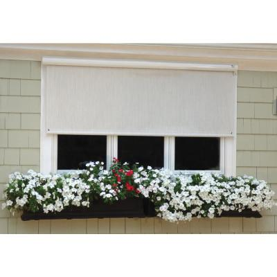 Exterior Solar Shade with Hand Crank and Full White Cassette