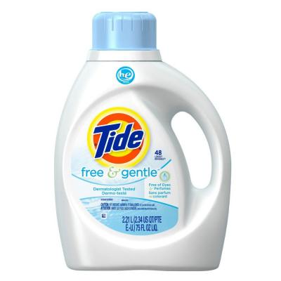 Tide 75 oz. Free and Gentle HE Liquid Laundry Detergent (48 Loads)